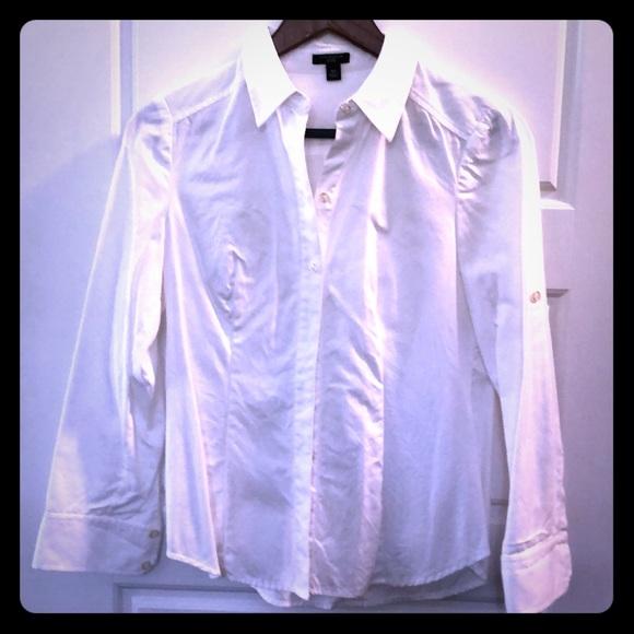 Ann Taylor Tops - White blouse. Feminine, beautiful fit